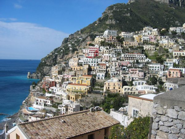 amalfi coast on a motorcycle